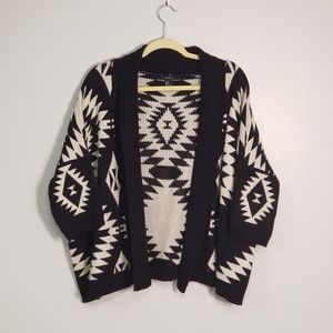 Forever 21 Over Sized Cozy Aztec Tribal Cardigan